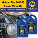 Morris Golden Film 20W-50 Classic Motor Oil, 2x5l