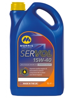 Morris Servol Performance Plus 15W-40 Mineral Motor Oil, 5l