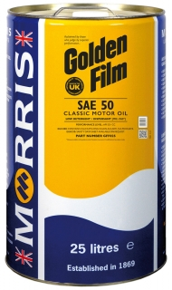 Morris Golden Film SAE 50 Classic Motor Oil, 25l