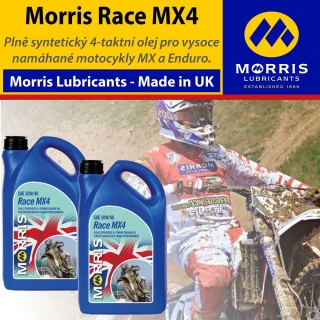 Morris Race MX4 10W-40 - olej pro 4 taktní motory MX,Enduro, Off-road racing, 8l