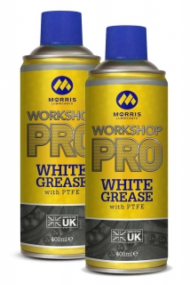Morris WSP White Spray Grease, bílá vazelína ve spreji, 2 x 400ml